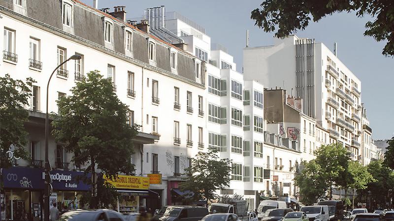 A Paris, 15 logements sociaux en béton de chanvre selon Barrault Pressacco